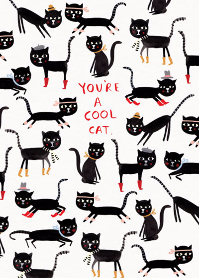 Cool Cat | Personalised Greeting Card