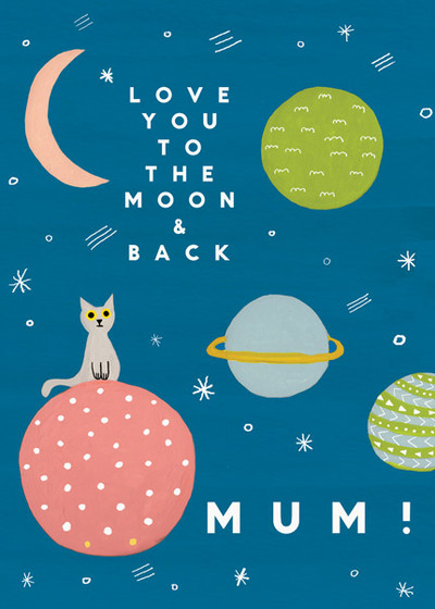 To The Moon | Personalised Greeting Card