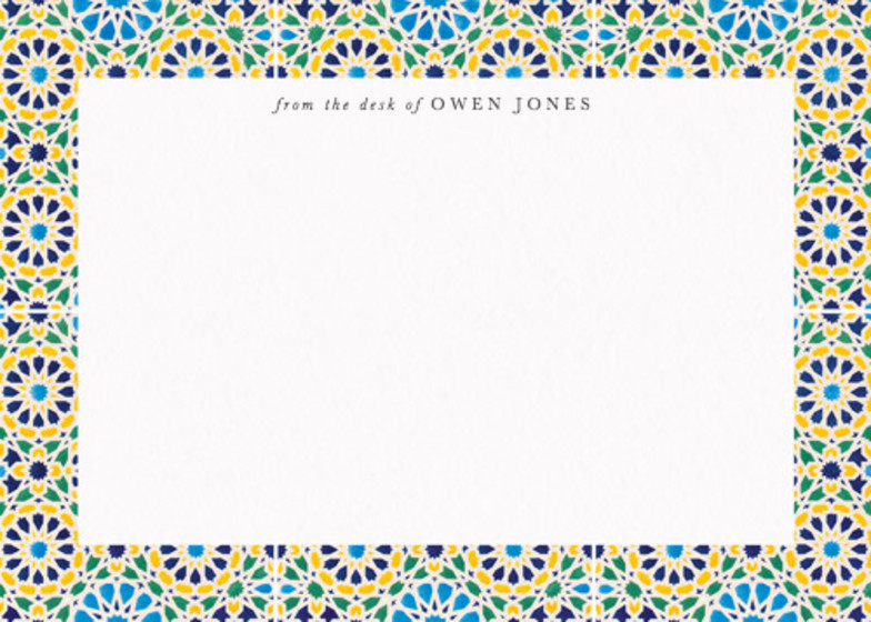 Moresque Mosaic | Personalised Stationery Set