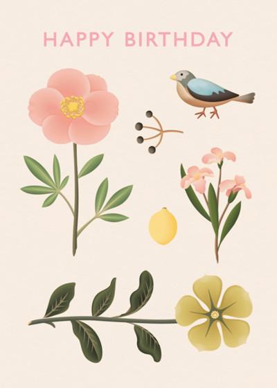 Birthday Sparrow | Personalised Birthday Card