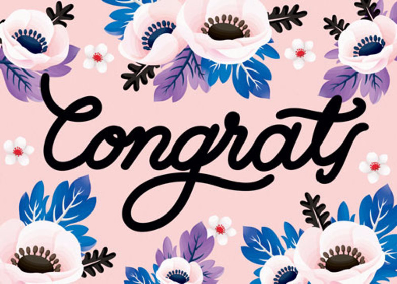 Congrats Anemone | Personalised Congratulations Card