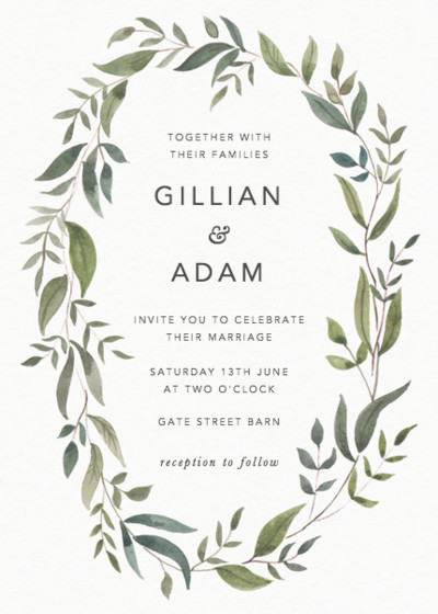 Foliage | Personalised Wedding Invitation