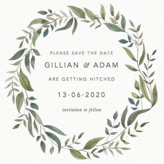 Foliage | Personalised Save The Date