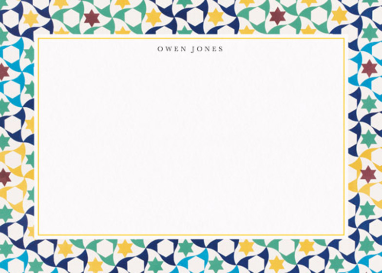 Moresque Stars | Personalised Stationery Set