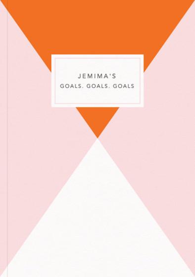 Orange Diamond - Goals | Personalised Lined Notebook