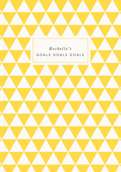 Yellow Pyramids - Goals | Personalised Lined Notebook