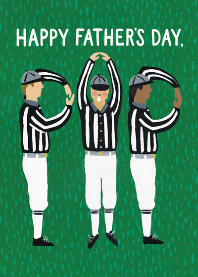 Father's Day Referees | Personalised Greeting Card