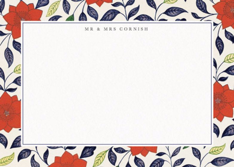 Chinese Red Lotus | Personalised Stationery Set