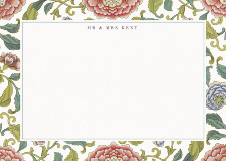 Chinese Florals | Personalised Stationery Set