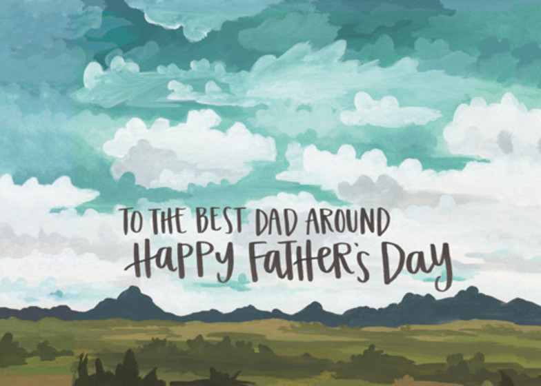 Best Dad Around | Personalised Greeting Card