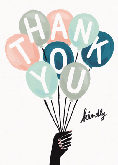 Thank You Kindly | Personalised Thank You Card