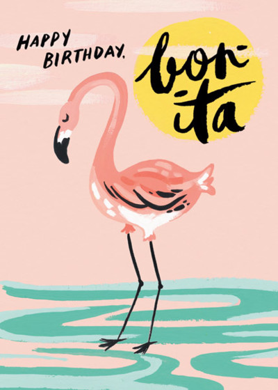 Birthday Flamingo | Personalised Birthday Card