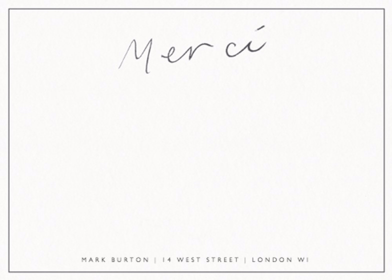 Merci Grey | Personalised Stationery Set
