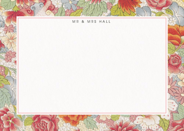 Chinese Red Roses | Personalised Stationery Set