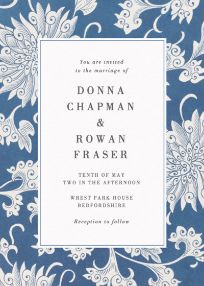 Chinese Chrysanthemum | Personalised Wedding Invitation