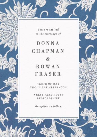 Chinese Chrysanthemum | Personalised Wedding Invitation