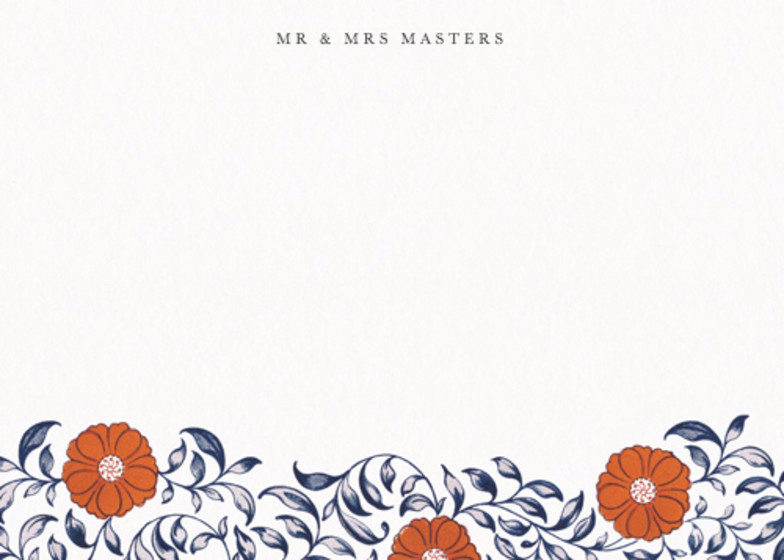 Chinese Red Flowers | Personalised Stationery Set