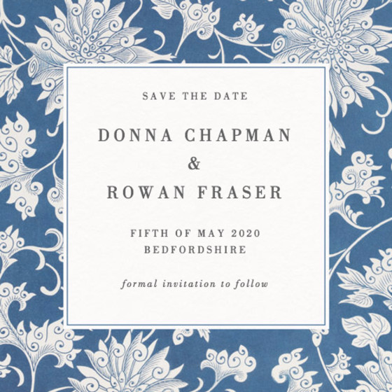 Chinese Chrysanthemum | Personalised Save The Date
