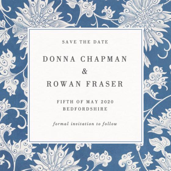 Chinese Chrysanthemum | Personalised Save The Date