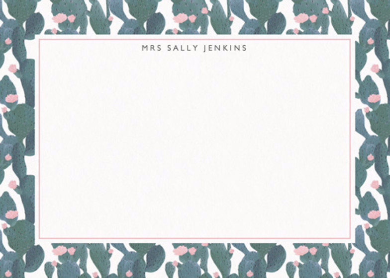 Flowering Cacti | Personalised Stationery Set