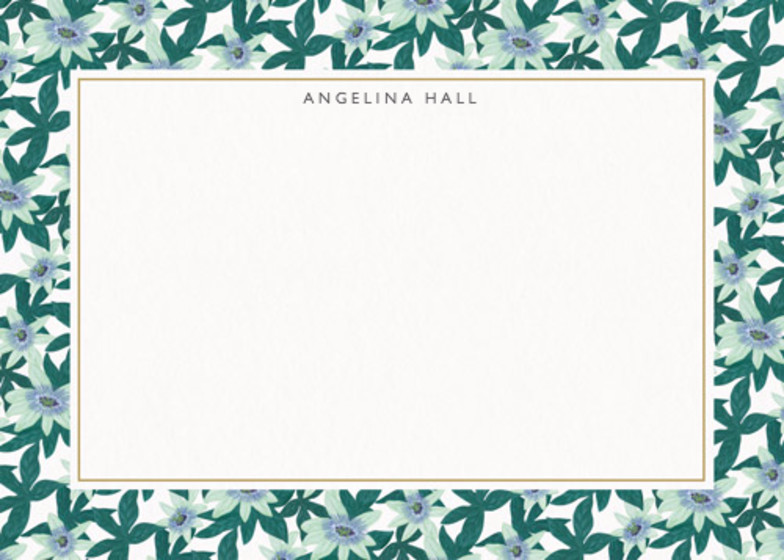 Passion Flower | Personalised Stationery Set