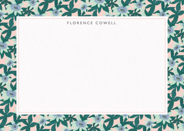 Passion Flower Blush | Personalised Stationery Set