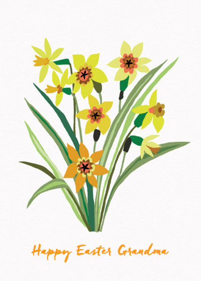 Easter Daffodils | Personalised Greeting Card