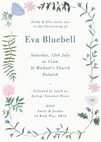 Helena | Personalised Christening Invitation