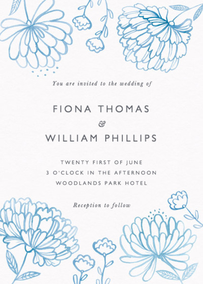Peony Bouquet | Personalised Wedding Invitation