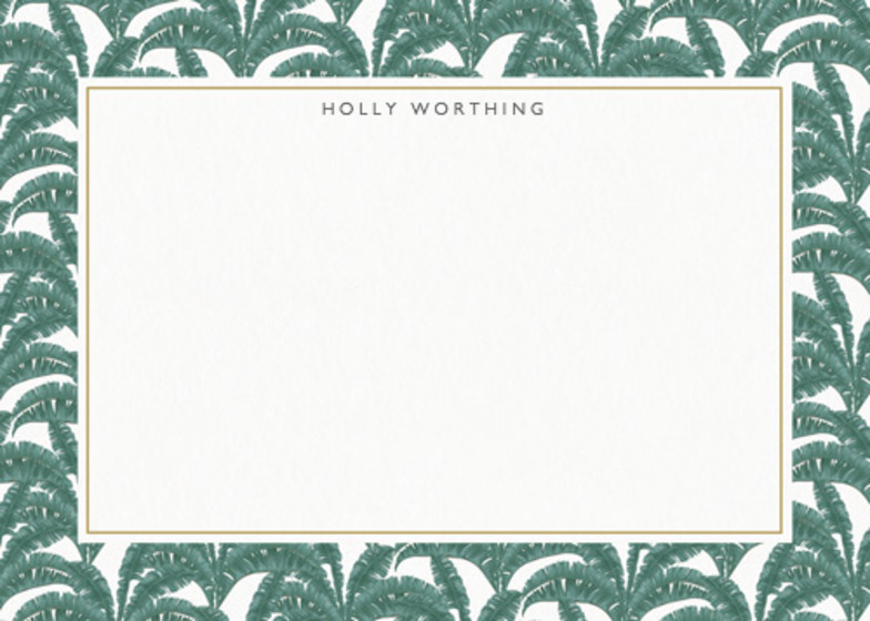 Banana Leaf | Personalised Stationery Set