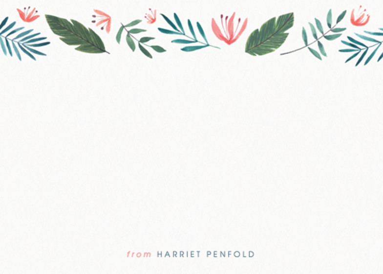 Paradise Florals | Personalised Stationery Set