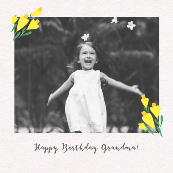Daffodils Photo | Personalised Birthday Card