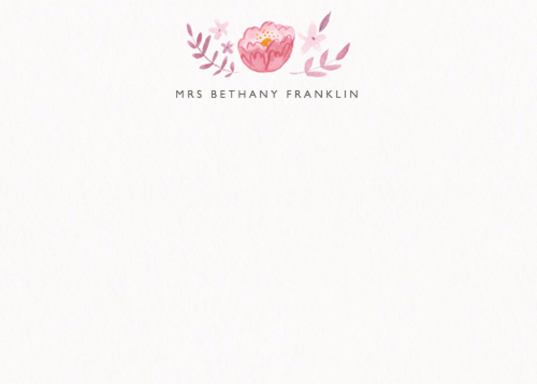 Peony Gardland | Personalised Stationery Set