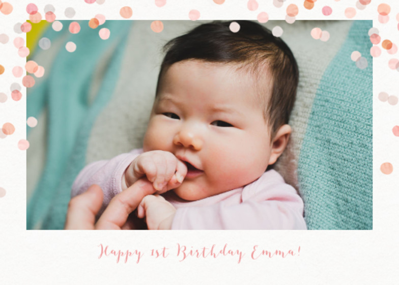 Blush Confetti | Personalised Birthday Card