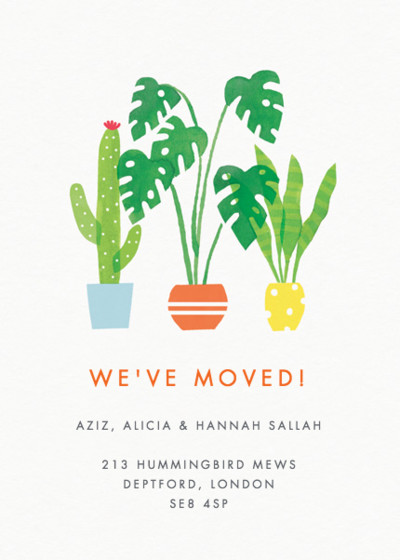 Plants | Personalised Moving Announcement