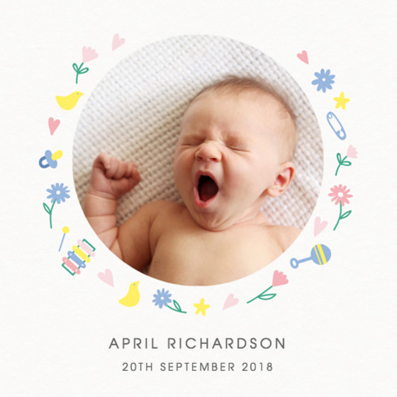 Baby Basics | Personalised Birth Announcement