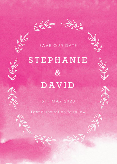 Fuchsia Blooms | Personalised Save The Date