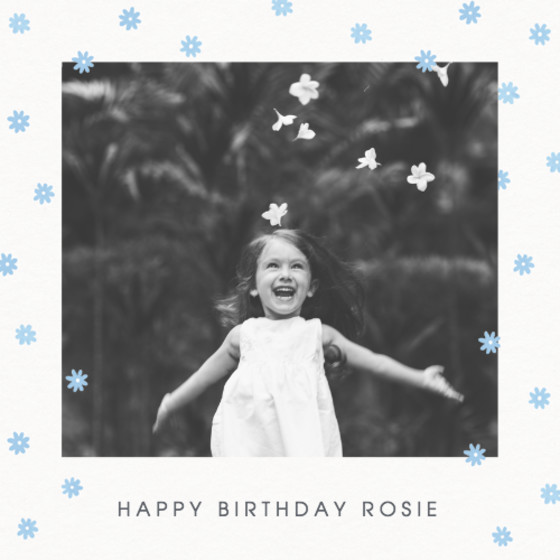 Blue Daisy Scatter | Personalised Birthday Card