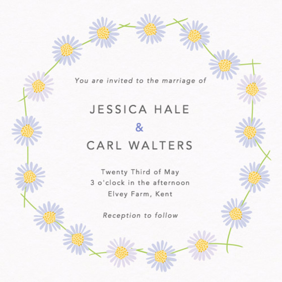 Daisy Chain | Personalised Wedding Invitation