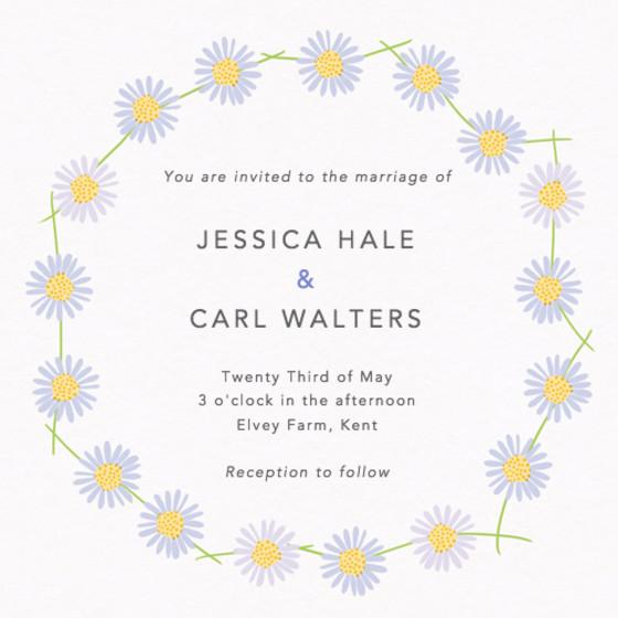 Daisy Chain | Personalised Wedding Invitation