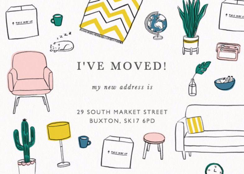 Moving Home | Personalised Moving Announcement