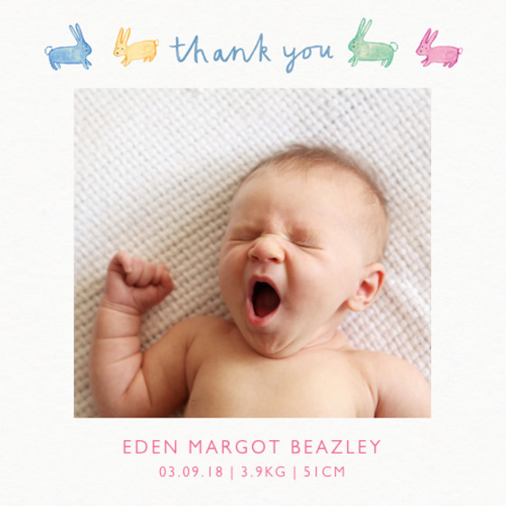 Thank You Baby | Personalised Photo Card Set