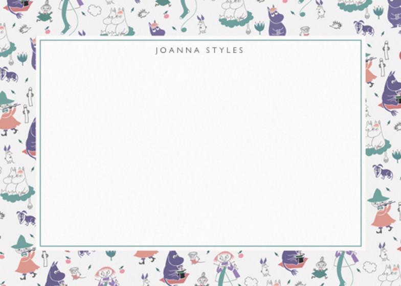 Purple Moomins | Personalised Stationery Set