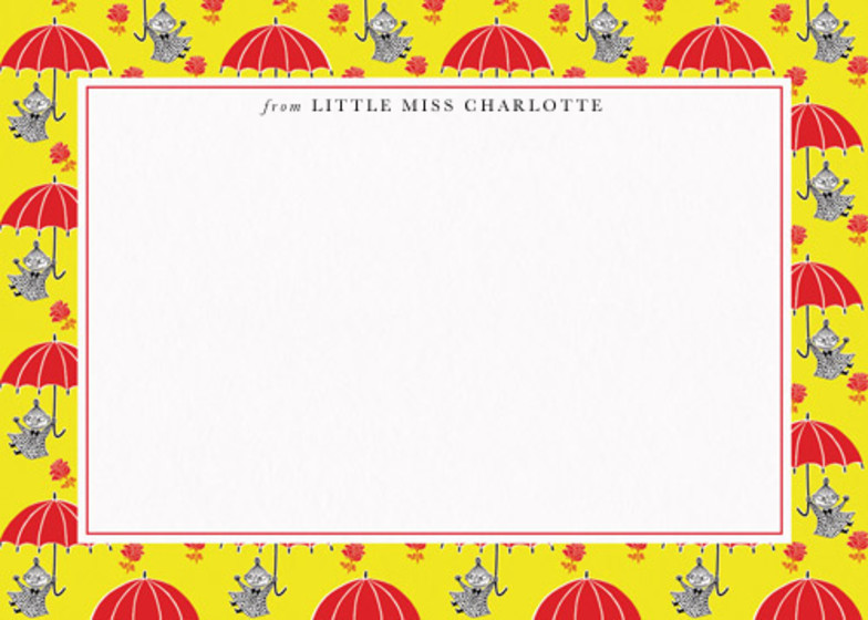 Little My With Umbrella   Personalised Stationery Set