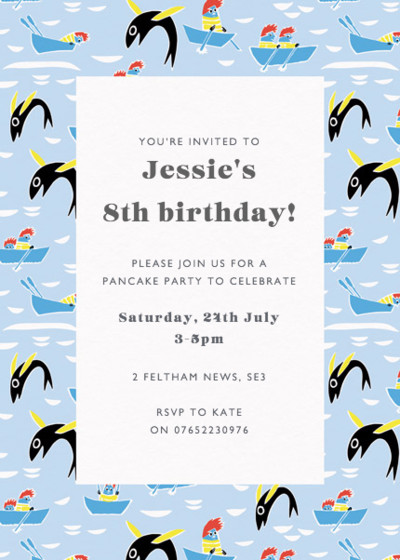 Moomin Fishing | Personalised Party Invitation