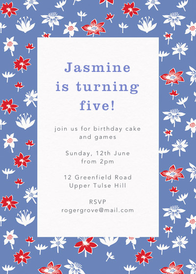 Moominvalley Meadow | Personalised Party Invitation