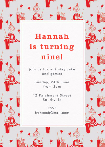 Little My And Mymble | Personalised Party Invitation