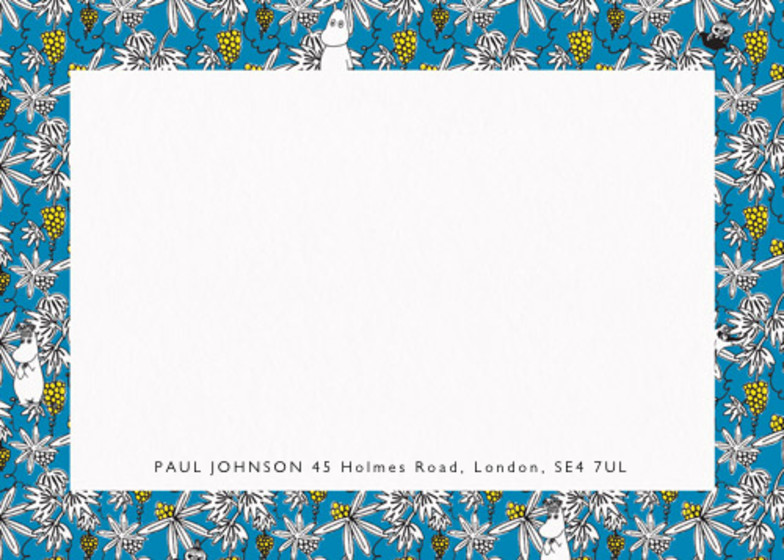 Moomin Vines Blue   Personalised Stationery Set