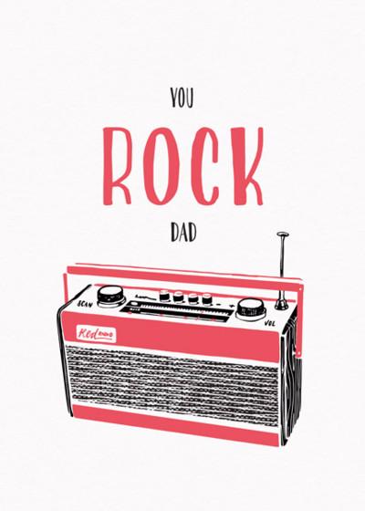 Rocking Dad   Personalised Birthday Card