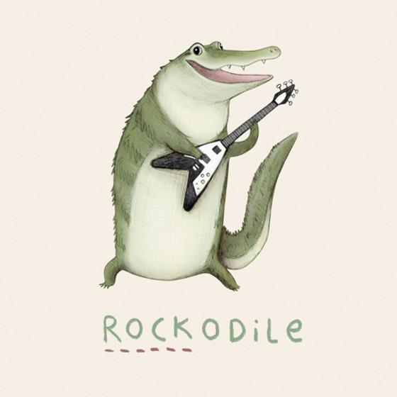 Rockodile   Personalised Greeting Card